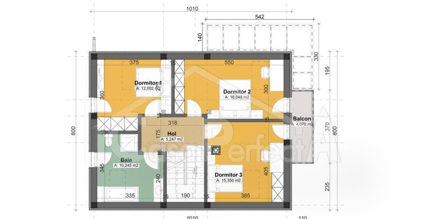 Proiecte de case cu amprenta de 80 mp spatiul ideal Small foursquare house plans