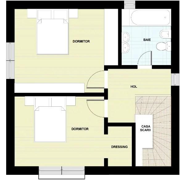 Proiecte de case cu etaj si terasa acoperita Two story house plans with covered patios 10