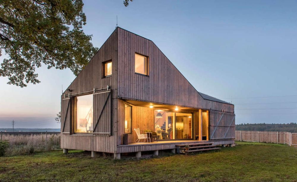 Casa cu obloane mobile din Boemia