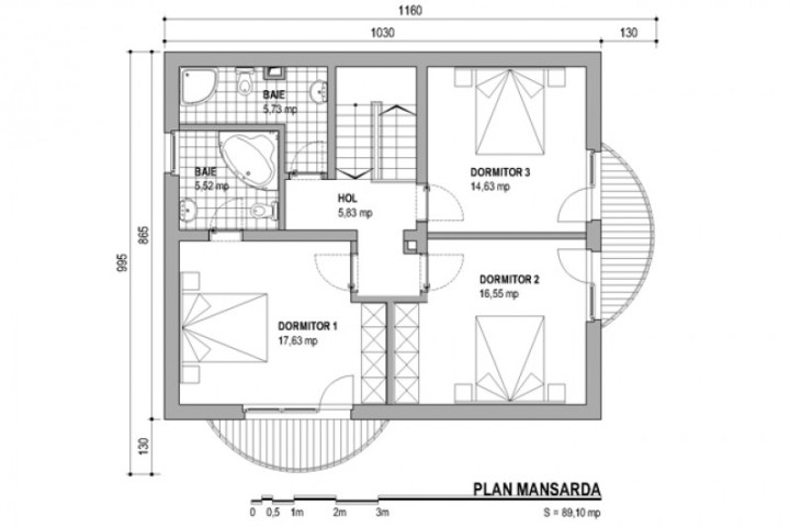 case frumoase cu mansarda beautiful attic house projects 10