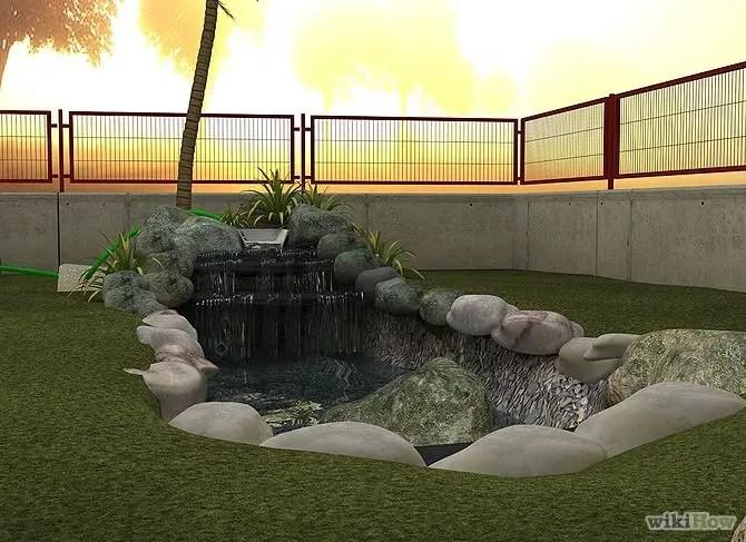construirea unei cascade de gradina how to build a pond with waterfall 6