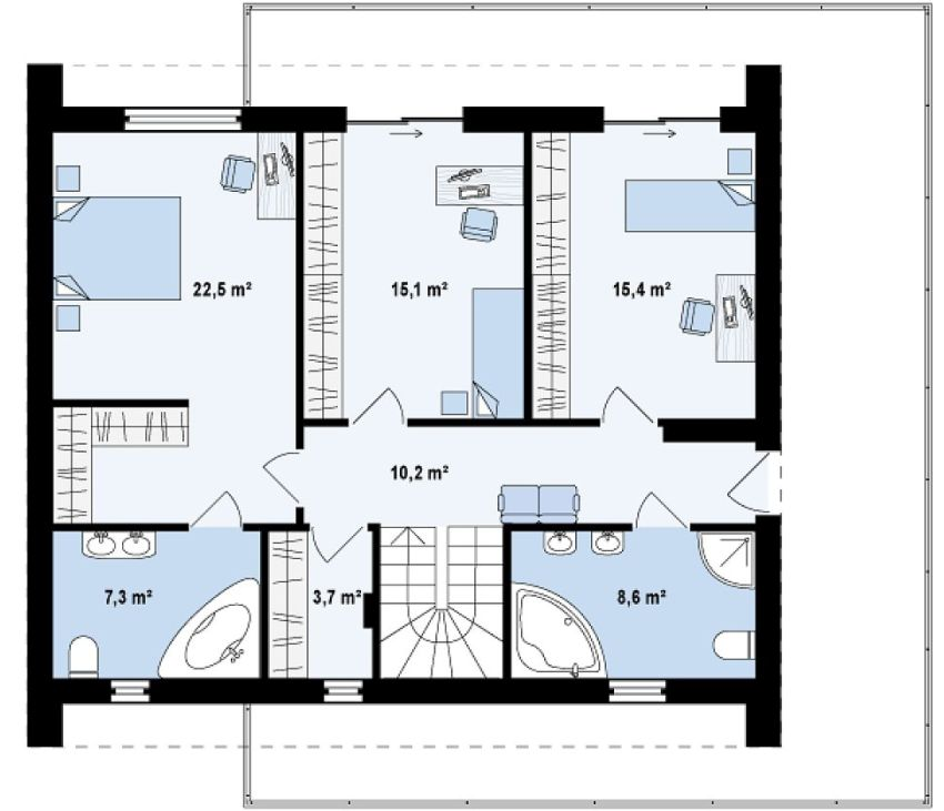 modele de case cu si fara etaj one and two story house plans 6