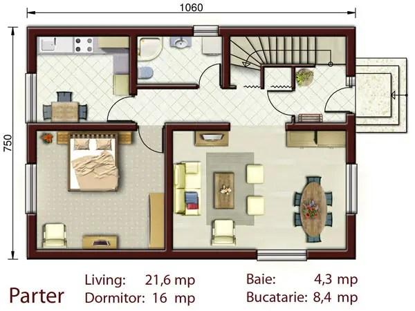 Proiecte de case cu amprenta mica la sol compromisul perfect for Proiecte case mici cu mansarda gratis