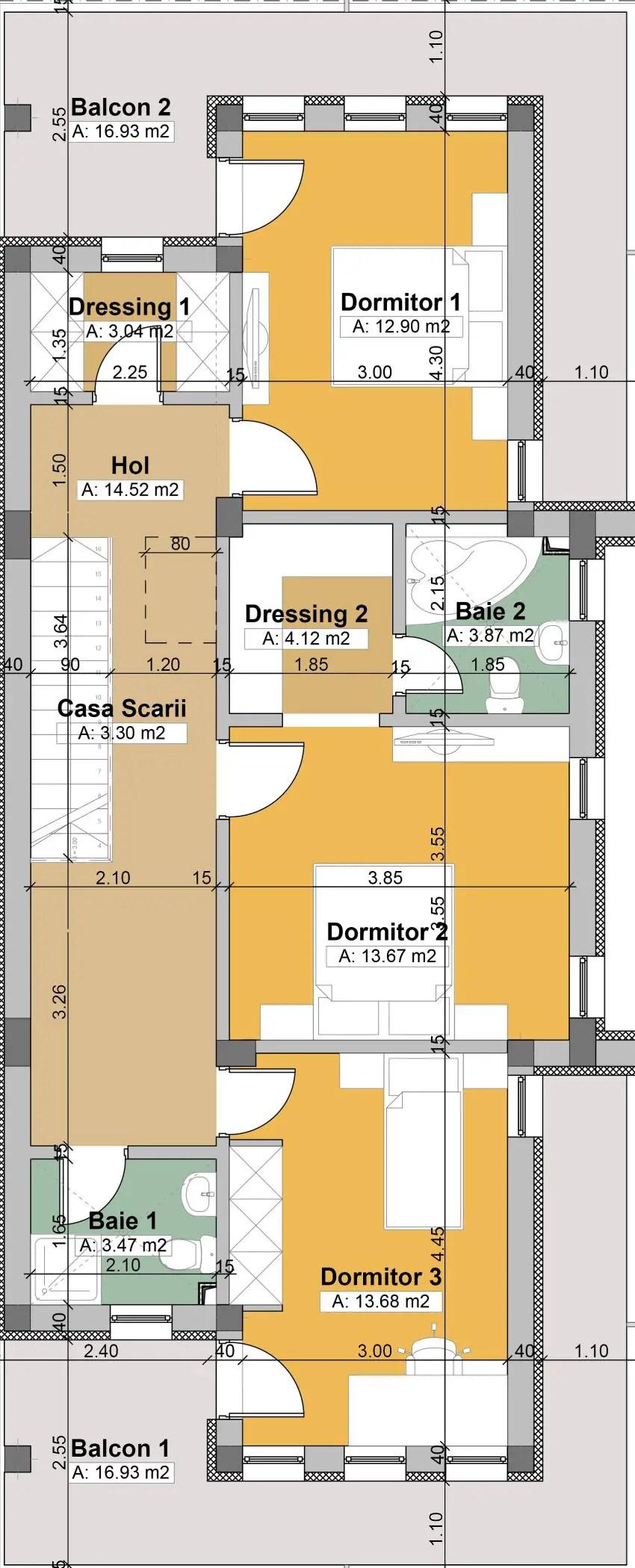 Proiecte de case cu doua nivele spatii practice - L shaped house plans for narrow lots ...