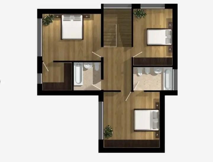 proiecte de case cu doua nivele two story house plans with master on first floor 9