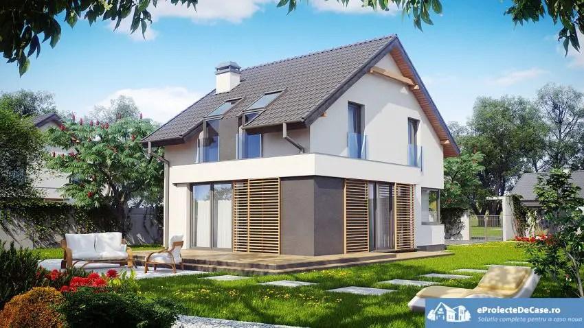 Proiecte de case de 100 metri patrati frumoase