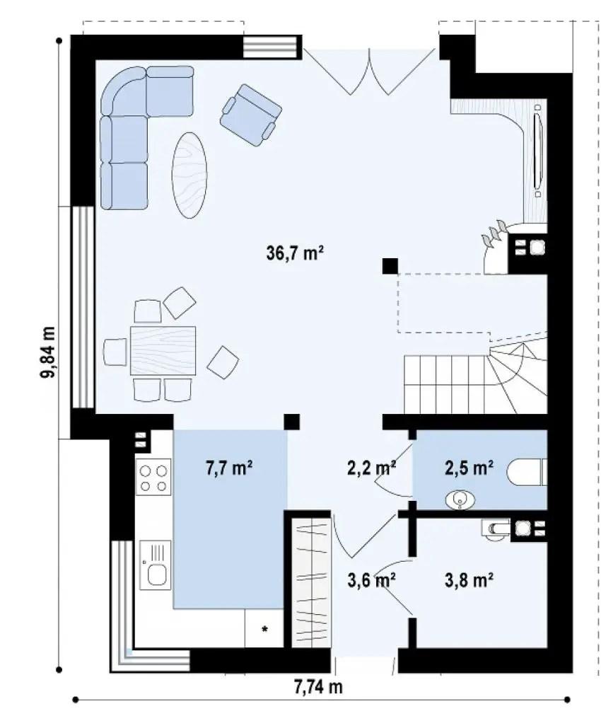 proiecte de case de 100 de metri patrati 1,000 square feet house plans 6