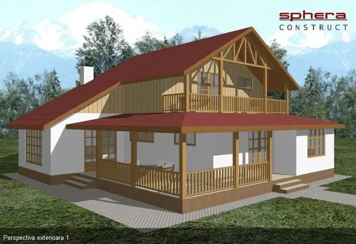 Proiecte de case in stil clasic elegante