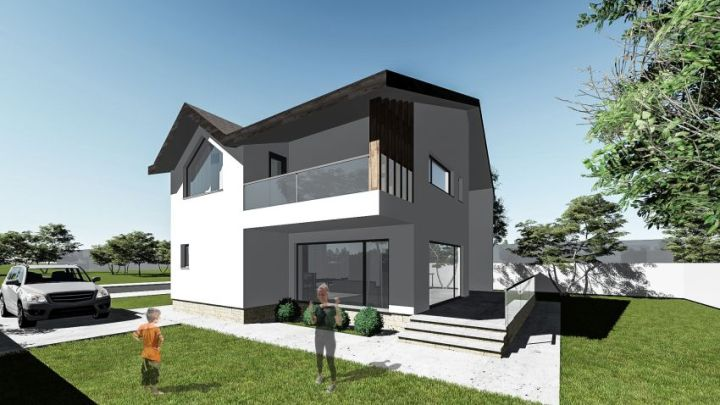proiecte de case moderne cu mansarda modern house designs with attic 6