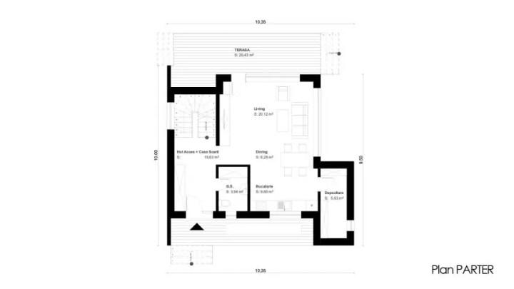 Proiecte de case moderne cu mansarda frumoasa