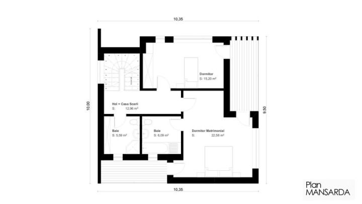 proiecte de case moderne cu mansarda modern house designs with attic 8