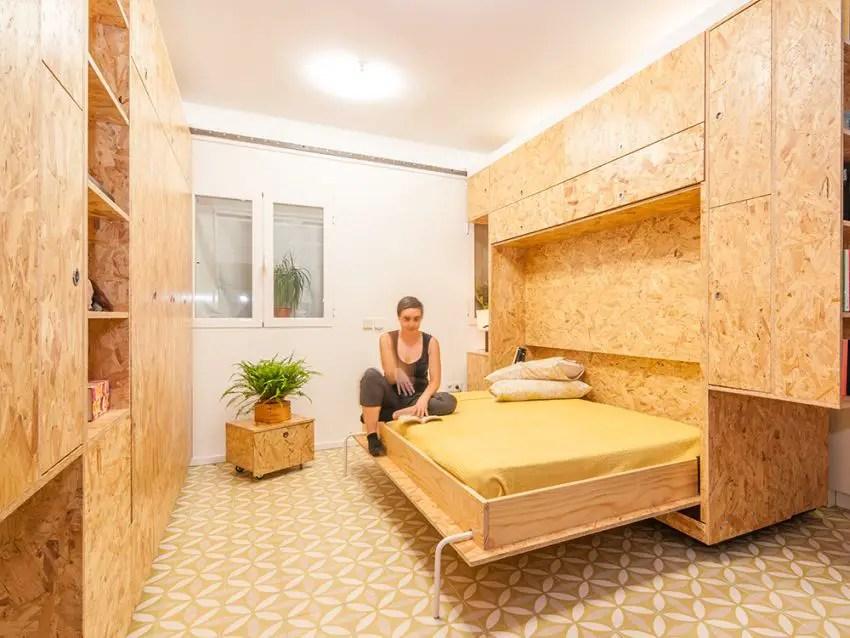 transformarea unei garsoniere in apartament transforming a studio apartment 11
