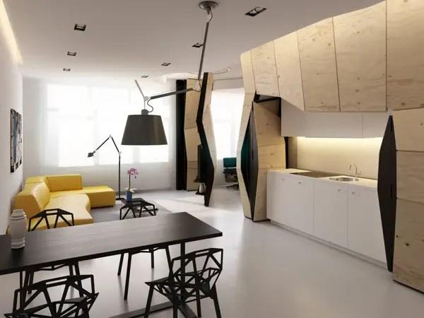 transformarea unei garsoniere in apartament transforming a studio apartment 6