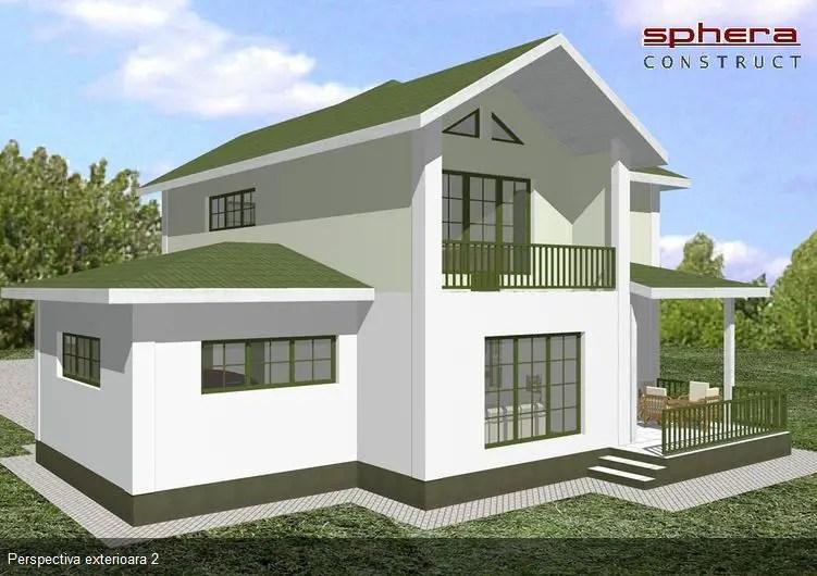 Proiecte case medii cu mansarda si garaj spatii for Medium house plans