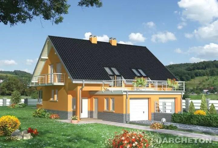 Proiecte case medii cu mansarda si garaj moderne