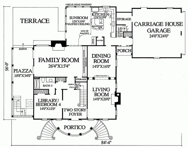 case in stil colonial Colonial style house plans 8