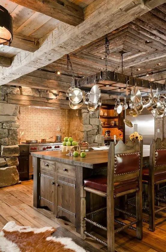Cele mai frumoase interioare de case rustice din lume