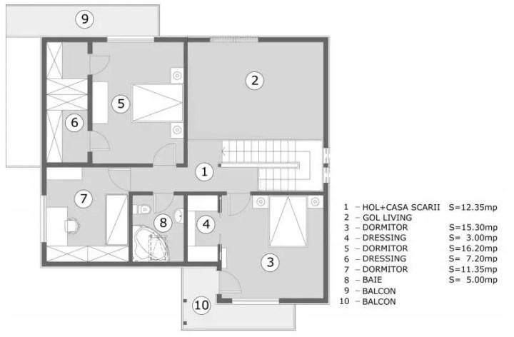 proiecte de casa cu scara interioara Interior staircase house plans 12