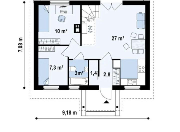 proiecte de casa cu scara interioara Interior staircase house plans 2