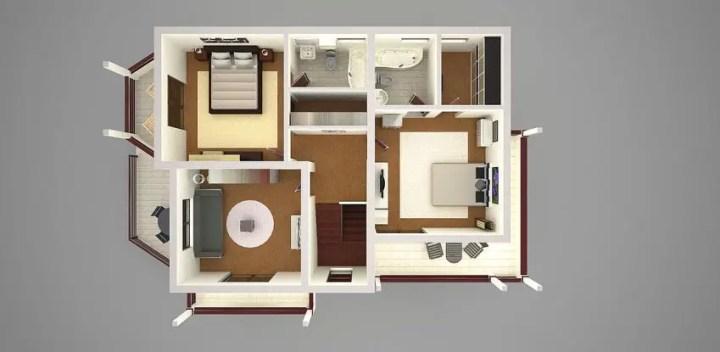 proiecte de case cu trei dormitoare Three bedroom house plans 12