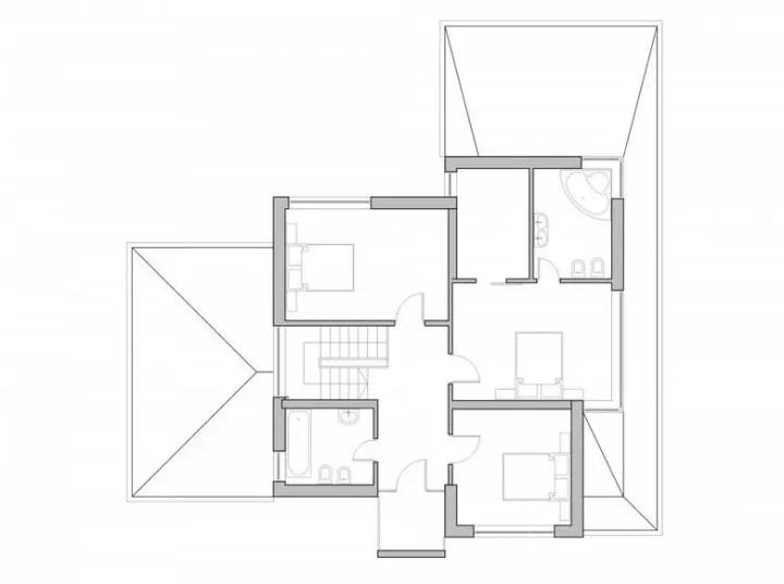 proiecte de case cu trei dormitoare Three bedroom house plans 4