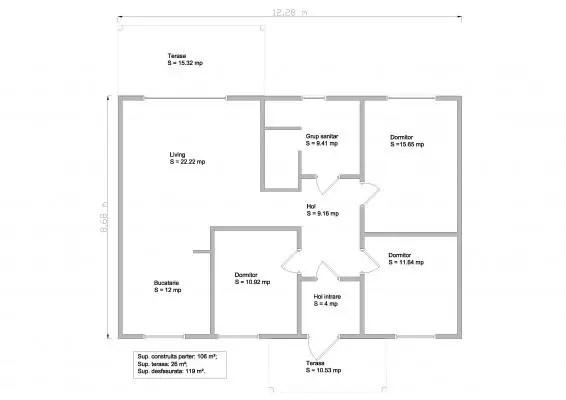 proiecte de case din barne Timberframe house plans 6