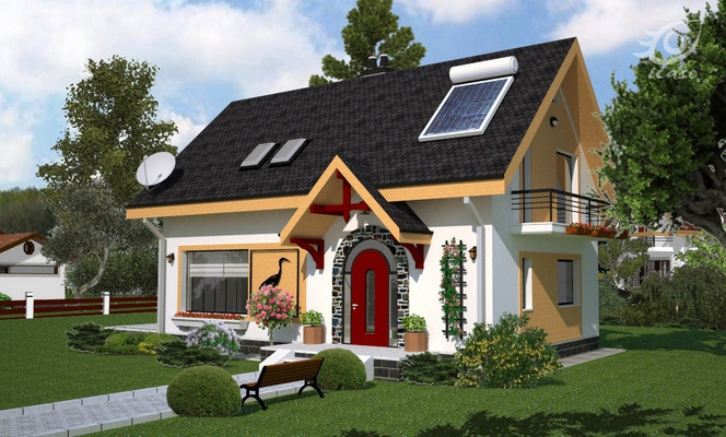 proiecte de case din barne Timberframe house plans 8