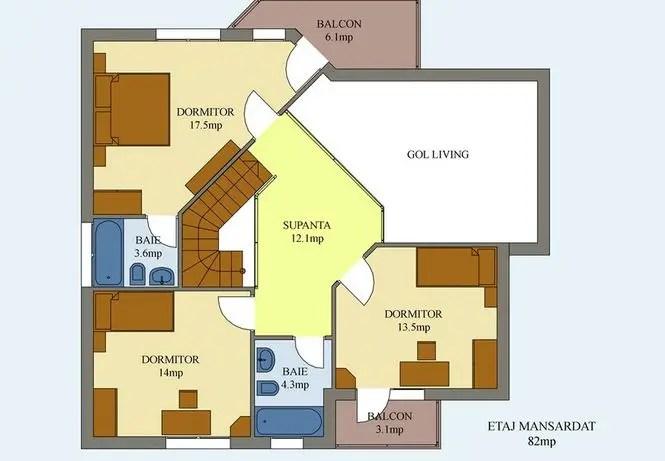proiecte de case moderne cu balcoane in relief protruding balcony modern house plans 12
