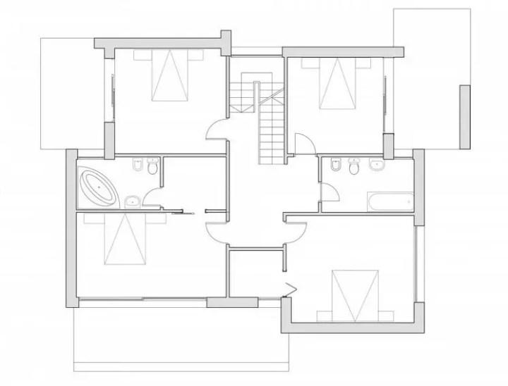 proiecte de case moderne cu balcoane in relief protruding balcony modern house plans 8