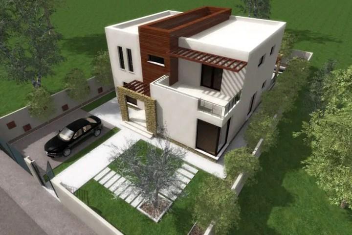 proiecte de case moderne cu balcoane in relief protruding balcony modern house plans