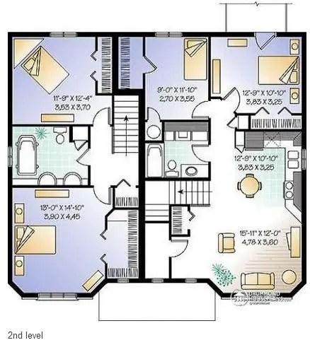 proiecte de case triplex Triplex house plans 10