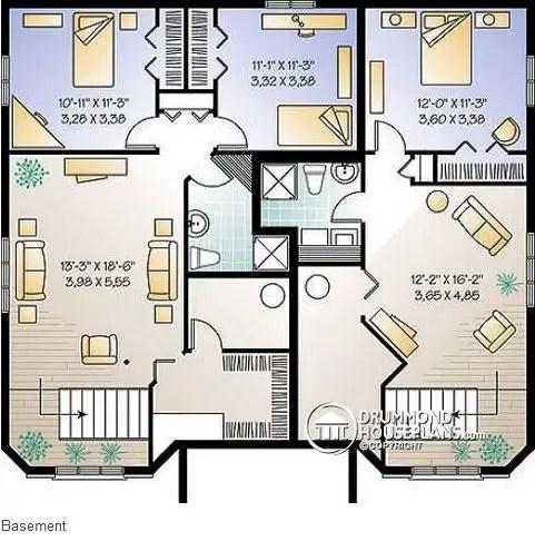 proiecte de case triplex Triplex house plans 8