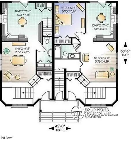 proiecte de case triplex Triplex house plans 9