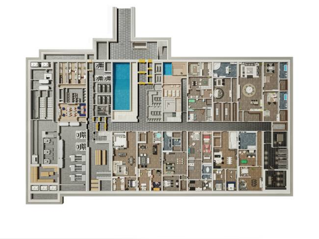 apartamentele din buncar The bunker compound 4