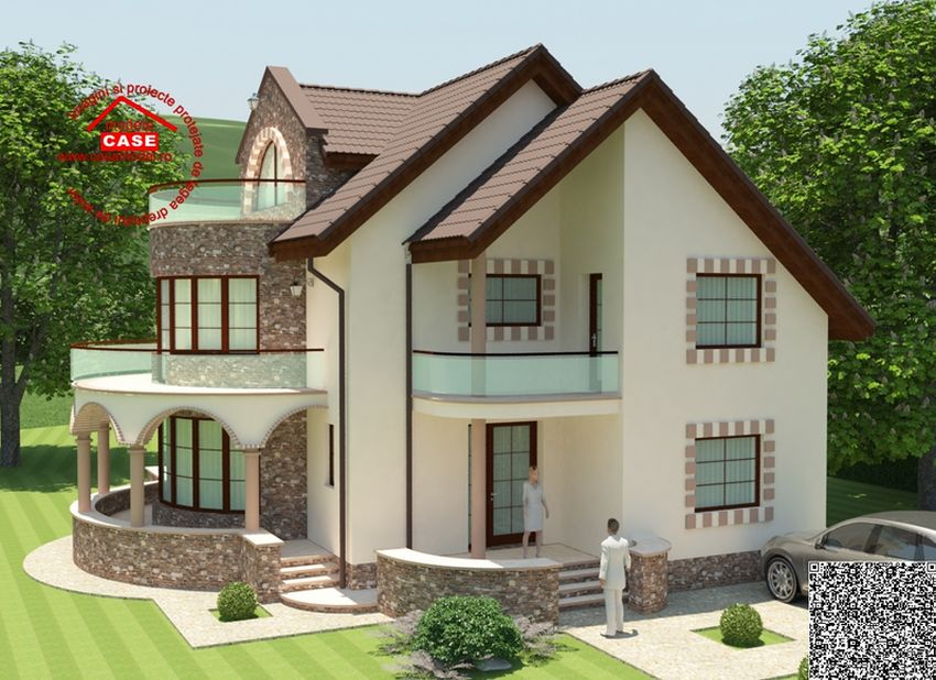house plans with balcony cu balcon rotund un design expresiv 18537