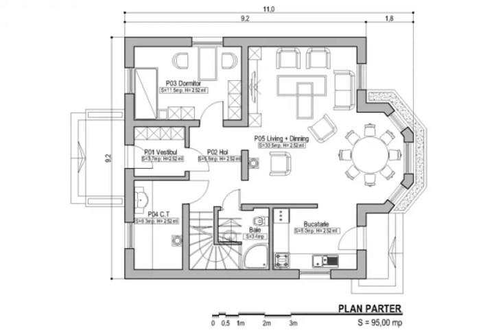 case cu bovindou Bay window house plans 7
