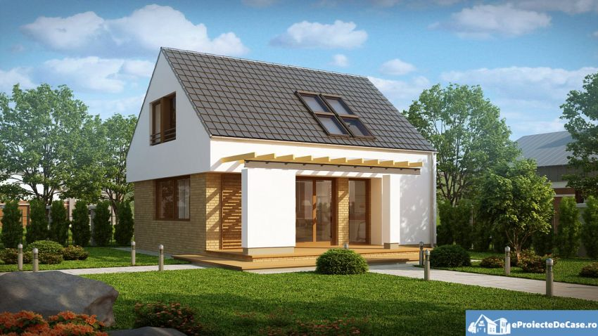 case moderne mici, cu mansarda Small modern houses with loft 11