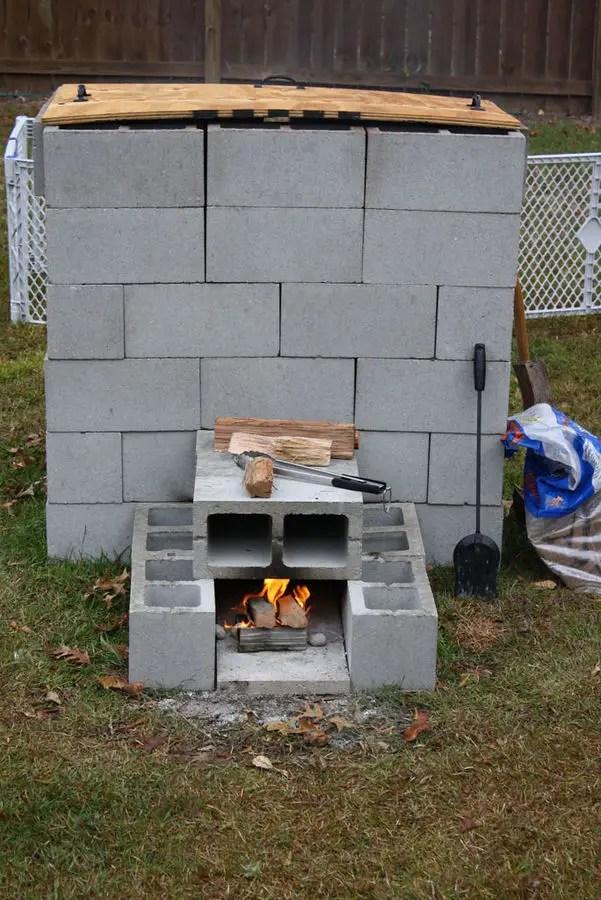 construirea unei afumatori din caramida building your own smokehouse 3