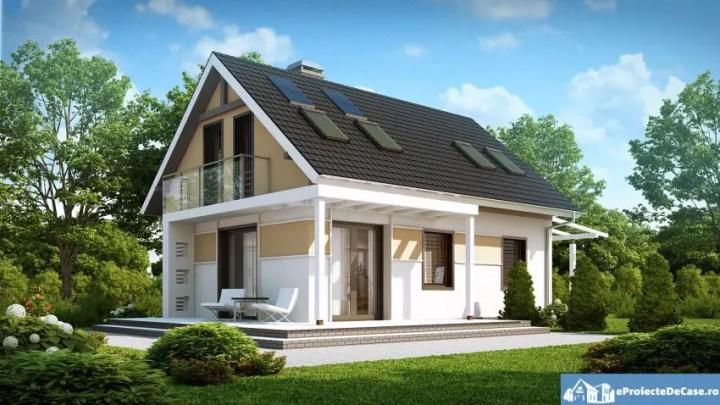 Proiecte de case ieftine cu mansarda la etaj