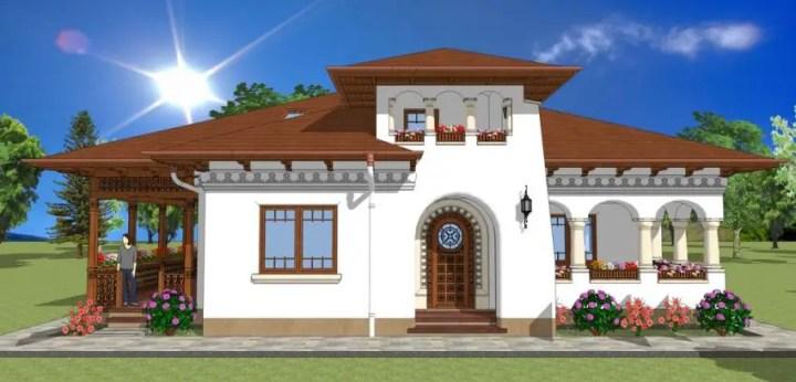 Proiecte de case in stil conac elegante