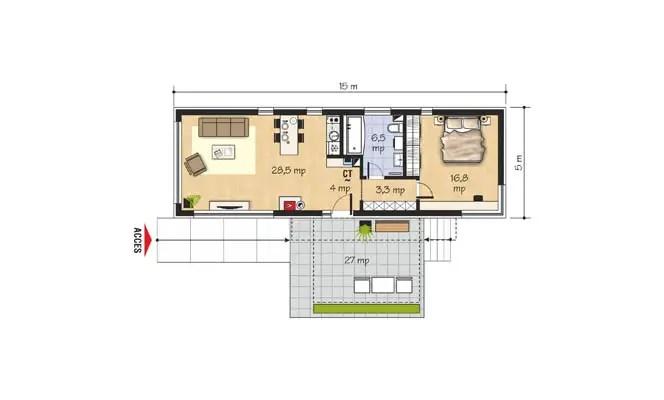 proiecte de case mici sub 100 de metri patrati Small houses under 100 square meters 2