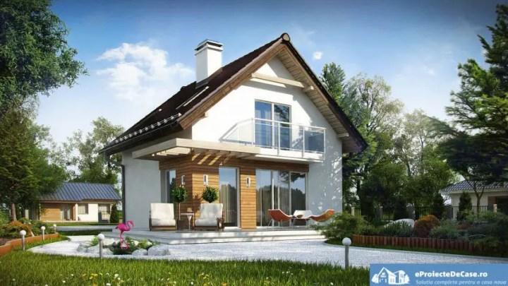 Proiecte de case mici sub 100 de metri patrati la sol