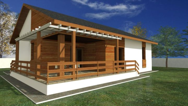 case cu terasa in spate Back patio house plans 6
