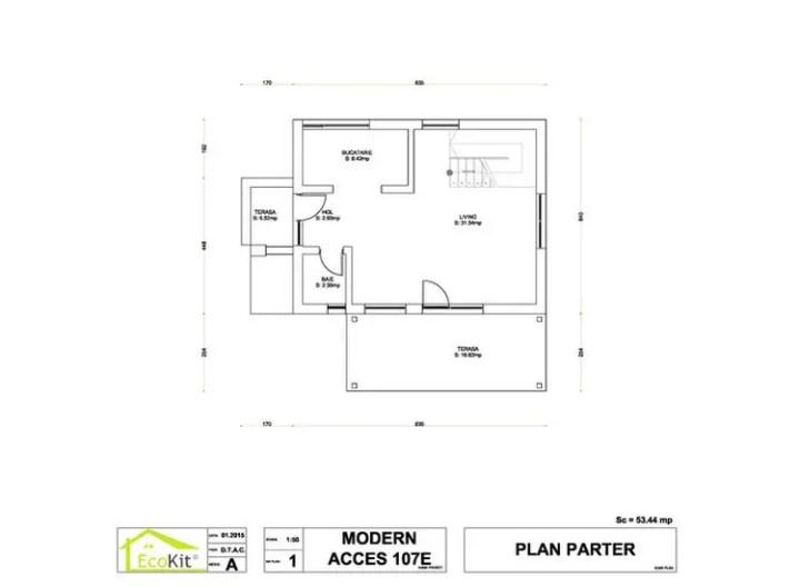 case moderne din lemn modern wood house plans 11