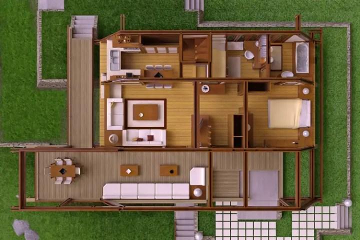 case moderne din lemn modern wood house plans 5