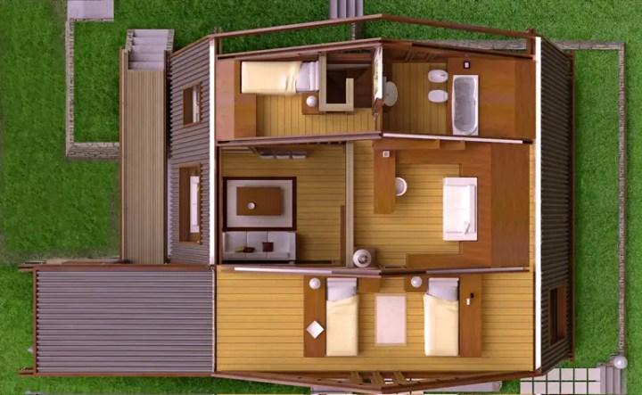 case moderne din lemn modern wood house plans 8