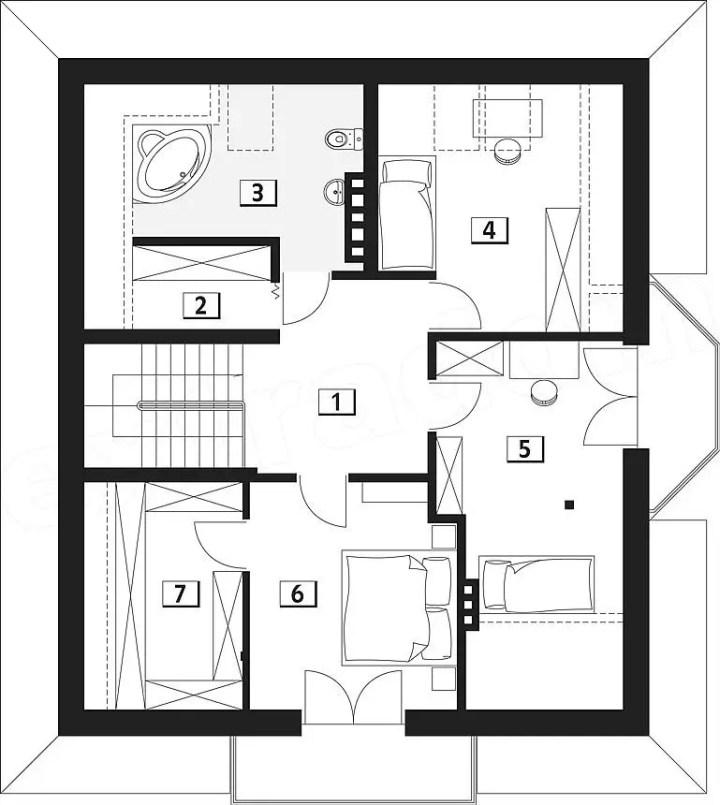 case pe structura usoara Light frame house plans 7