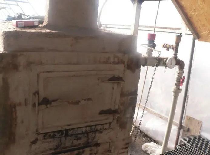 centrala termica artizanala pe lemne Homemade fire burning central heating 7