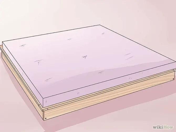 construirea unui pat din lemn How to build a wood frame bed 10