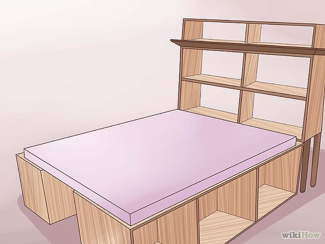 construirea unui pat din lemn How to build a wood frame bed 16